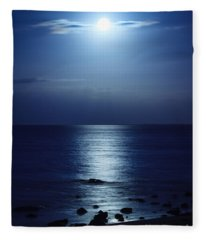 Blue Moon Rising Fleece Blanket