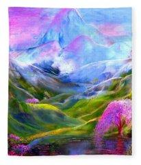 Blue Mountain Pool Fleece Blanket