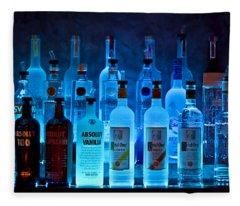 Blue Night Shadows Fleece Blanket