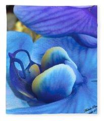 Blue Oasis 2  Fleece Blanket