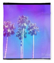 Blue Palms Fleece Blanket