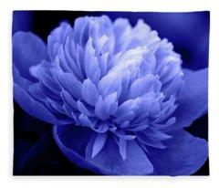 Blue Peony Fleece Blanket