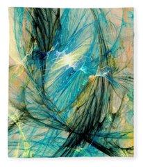 Blue Phoenix Fleece Blanket