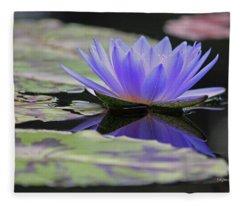 Blue Purple Dreams Fleece Blanket