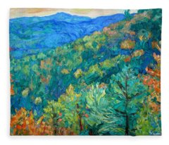 Blue Ridge Autumn Fleece Blanket