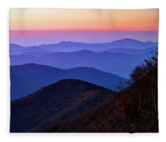 Blue Ridge Dawn Fleece Blanket