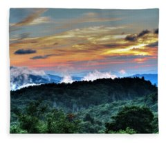 Blue Ridge Mountain Sunrise  Fleece Blanket