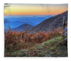 Blue Ridge Sunrise Fleece Blanket