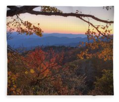 Blue Ridge Sunset Fleece Blanket