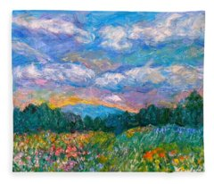 Blue Ridge Wildflowers Fleece Blanket