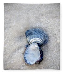 Blue Seashells Fleece Blanket