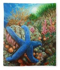Blue Seastar Fleece Blanket