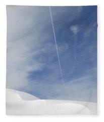 Blue Sky And Snow Fleece Blanket