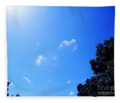 Blue Sky And Sunshine Fleece Blanket