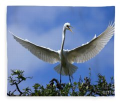 Blue Sky Landing Fleece Blanket