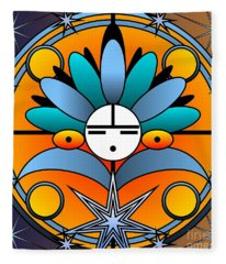 Blue Star Kachina 2012 Fleece Blanket