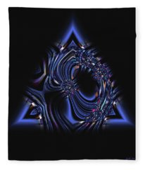 Blue Triangle Jewel Abstract Fleece Blanket