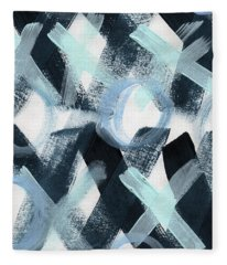 Blue Valentine- Abstract Painting Fleece Blanket