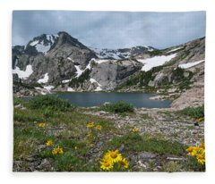 Bluebird Lake - Colorado Fleece Blanket