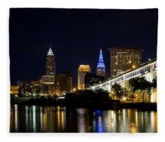 Blues In Cleveland Ohio Fleece Blanket