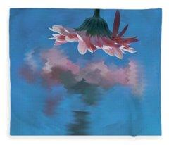 Blushing Pink Bloom Fleece Blanket