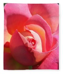 Blushing Rose Fleece Blanket