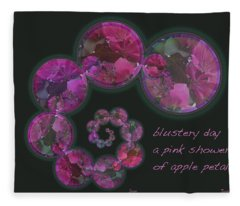 Blustery Day Haiga Fleece Blanket
