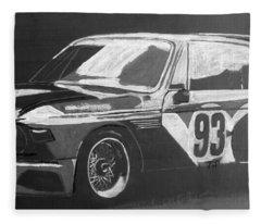 Bmw 3.0 Csl Alexander Calder Art Car Fleece Blanket