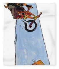 Bmx Drawing Fleece Blanket