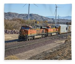 Bnsf 7454 Fleece Blanket