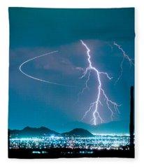 Bo Trek The Lightning Man Fleece Blanket