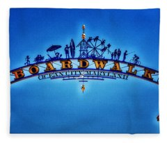 Boardwalk Arch In Ocean City Fleece Blanket