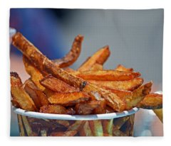 French Fries On The Boards Fleece Blanket