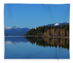Boat House Lake Tahoe Fleece Blanket