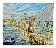 Boathouse Alley Fleece Blanket