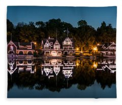 Boathouse Row Panorama Fleece Blanket