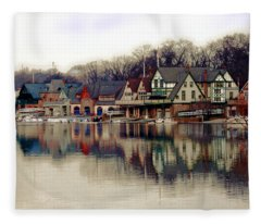 Boathouse Row Philadelphia Fleece Blanket