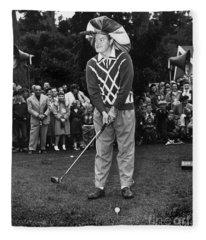 Bob Hope At Bing Crosby National Pro-am Golf Championship  Pebble Beach Circa 1955 Fleece Blanket
