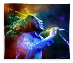 Bob Marley 01 Fleece Blanket