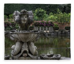 Boboli Fountain Fleece Blanket