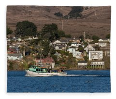 Bodega Bay In December Fleece Blanket