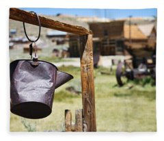 Bodie Ghost Town 2 - Old West Fleece Blanket