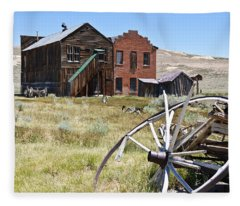 Bodie Ghost Town 3 - Old West Fleece Blanket