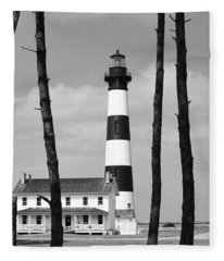 Bodie Island Lighthouse In The Outer Banks Fleece Blanket