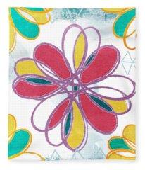 Boho Floral 2 Fleece Blanket