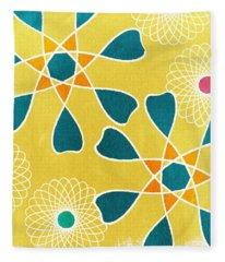 Boho Floral 3 Fleece Blanket