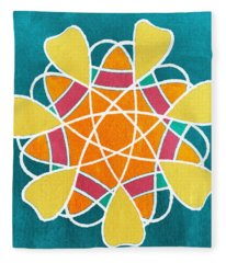 Boho Floral Mandala Fleece Blanket