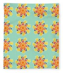 Boho Mandala Print Fleece Blanket