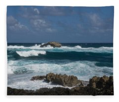 Boiling The Ocean At Laie Point - North Shore - Oahu - Hawaii Fleece Blanket