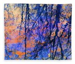 Bold Tree Reflections Fleece Blanket